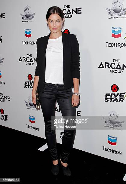 Vlada Verevko attends the Matt Leinart Foundation's 10th annual Celebrity Bowl for Charity Event at Lucky Strike Lanes on July 14 2016 in Hollywood...