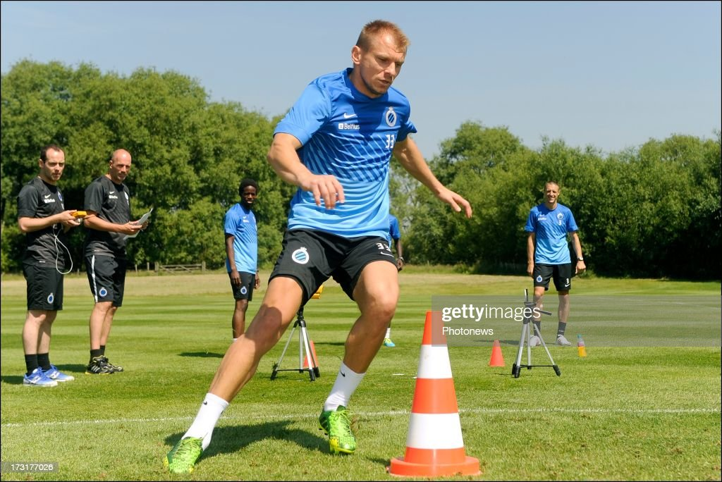 Vladan Kujovic of Club Brugge KV in action during the second day of a Club Brugge summer camp training session on July 9, 2013 in Manchester, England.