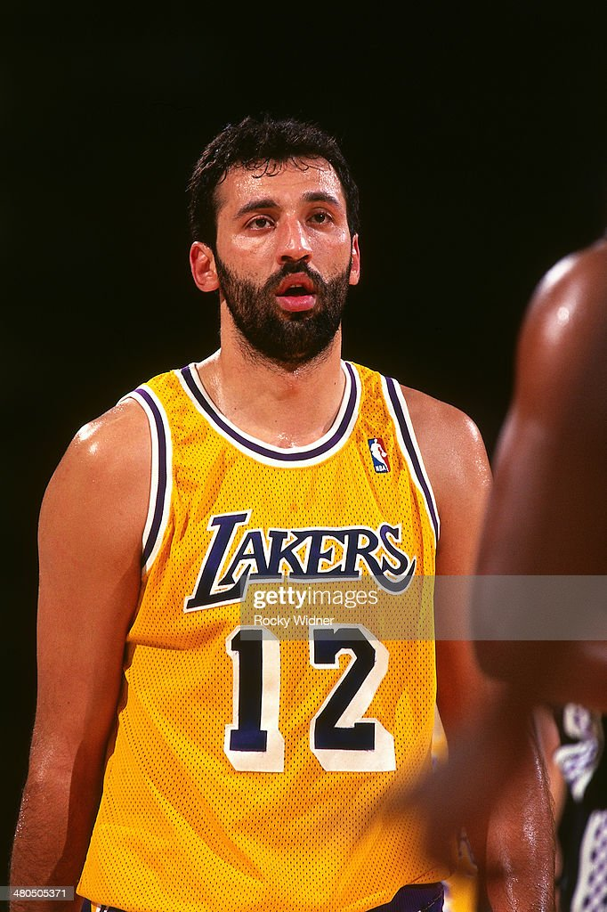f17a5473c ... Vlade Divac 12 of the Los Angeles Lakers walks circa 1996 at Arco Arena  in ...