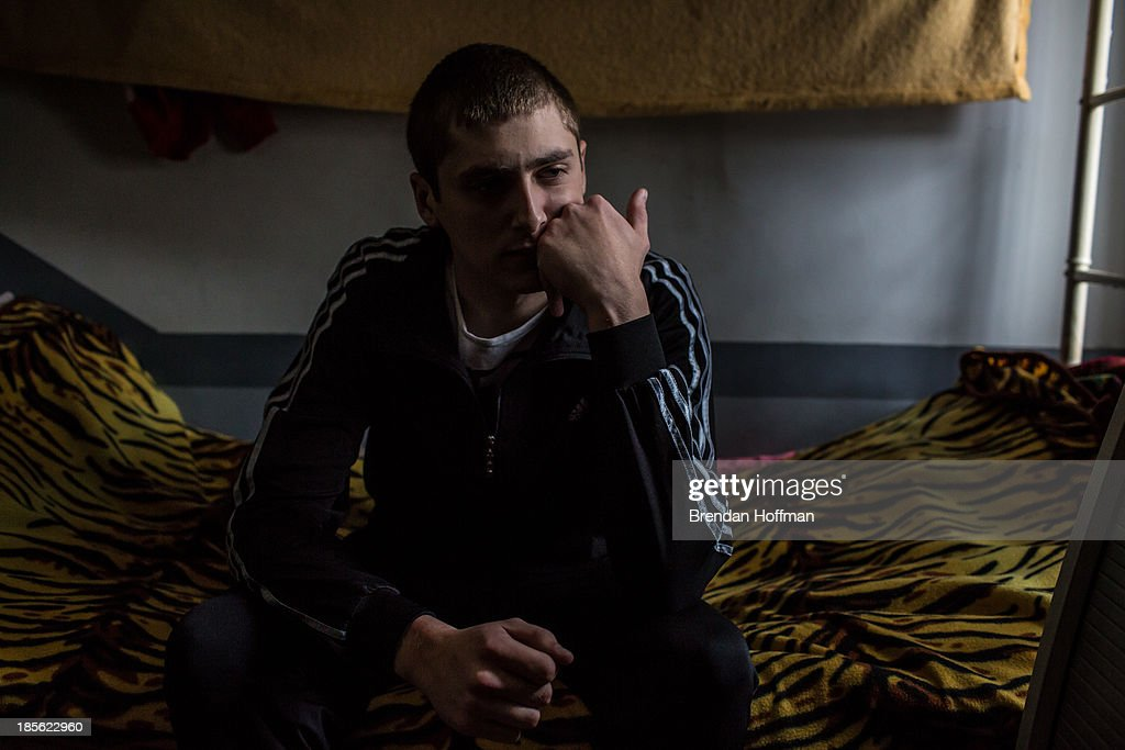 Vladimir, a 20-year-old from Moscow who used heroin, meth, and other drugs that he obtained from his brother, is in his second attempt at treatment for drug addiction at City Without Drugs on October 16, 2013 in Yekaterinburg, Russia. City Without Drugs is a well-known narcotics treatment program in Russia founded by Yevgeny Roizman, who was elected mayor of Yekaterinburg in September 2013.