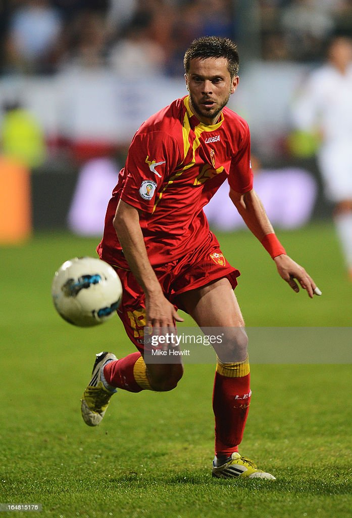 Vladimir Bozovic of Montenegro in action during the FIFA 2014 World Cup Group H Qualifier between Montenegro and England at City Stadium on March 26, 2013 in Podgorica, Montenegro.