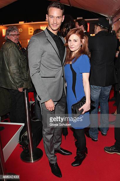 Vladimir Burlakov and Josefine Preuss attend the Bild 'Place to B' Party during the 64th Berlinale International Film Festival on February 8 2014 in...