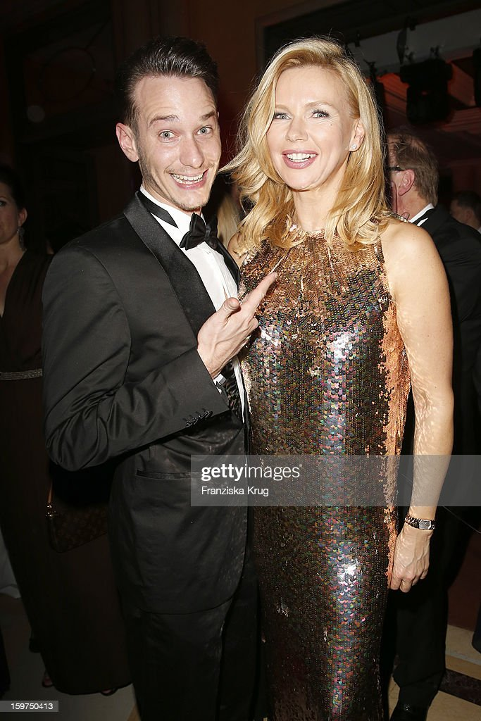 Vladimir Burlakov and Veronica Ferres attend the Germany Filmball 2013 on January 19, 2013 in Munich, Germany.