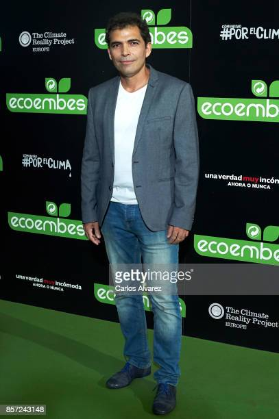 Vladimir Cruz attends 'An Inconvenient Sequel Truth to Power' premiere at the Callao cinema on October 3 2017 in Madrid Spain