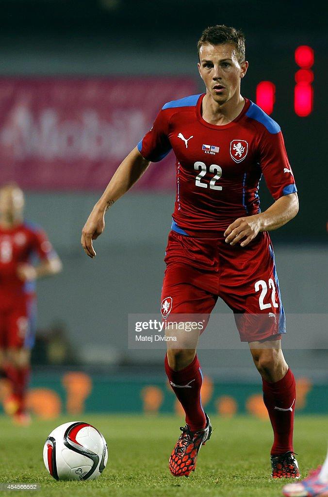 Vladimir Darida of Czech Republic in action during the international friendly match between Czech Republic and USA on September 3 2014 in Prague...