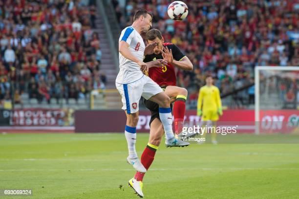Vladimir Darida of Czech Republic Jan Vertonghen of Belgiumduring the friendly match between Belgium and Czech Republic on June 05 2017 at the Koning...