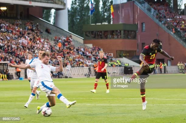 Vladimir Darida of Czech Republic Tomas Kalas of Czech Republic Michy Batshuayi of Belgiumduring the friendly match between Belgium and Czech...