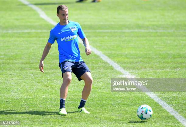 Vladimir Darida of Hertha BSC passes the ball during the training camp on august 2 2017 in Schladming Austria