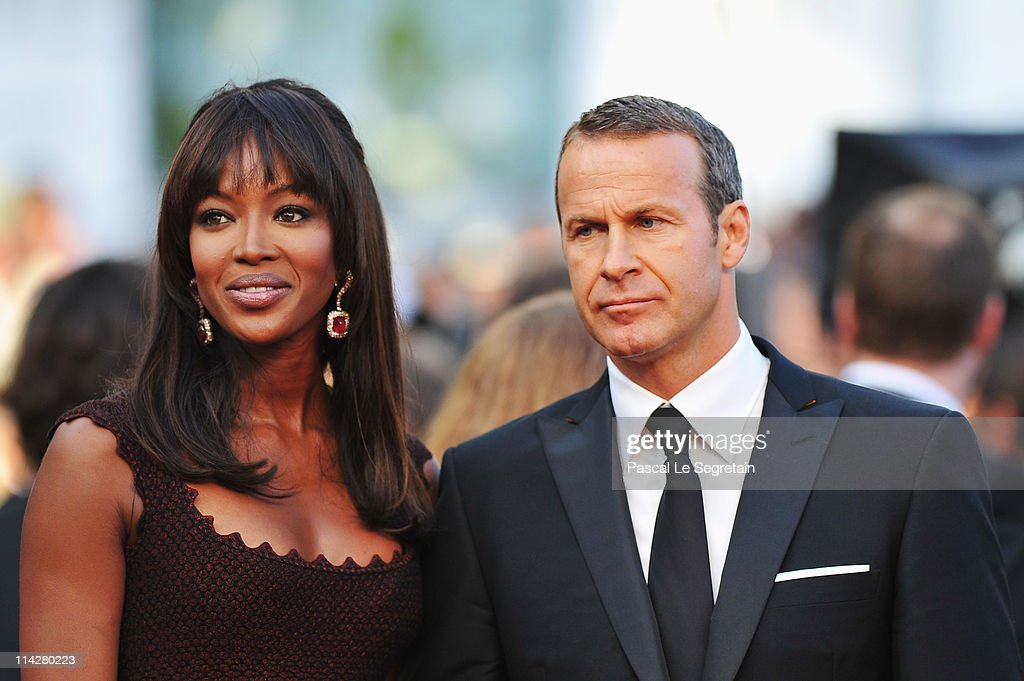 Vladimir Doronin (R) and Naomi Campbell attend 'The Beaver' premiere at the Palais des Festivals during the 64th Cannes Film Festival on May 17, 2011 in Cannes, France.