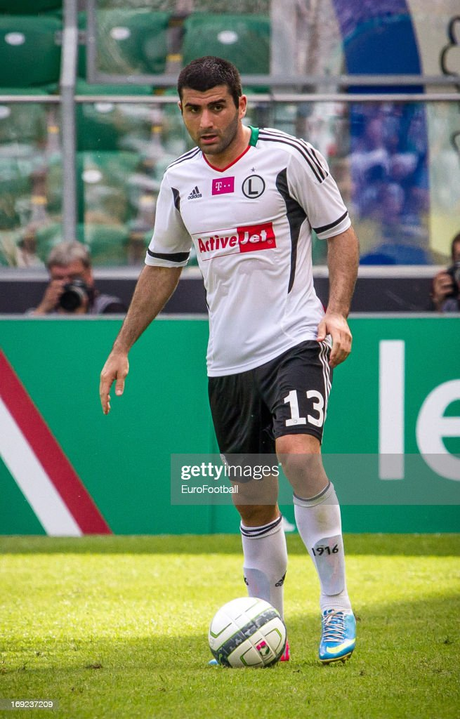 Vladimir Dvalishvili of Legia Warszawa in action during the Polish First Division between Legia Warszawa and KKS Lech Poznan held on May 18, 2013 at the Pepsi Arena in Warsaw, Poland.