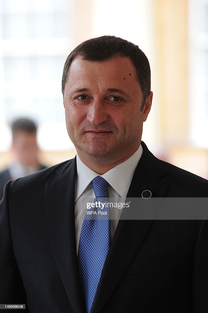 Vladimir Filat, the Prime Minister of Moldova arrives for a London 2012 Olympic Games reception, hosted by Britain's Queen Elizabeth II, at Buckingham Palace on July 27, 2012 in London, England.