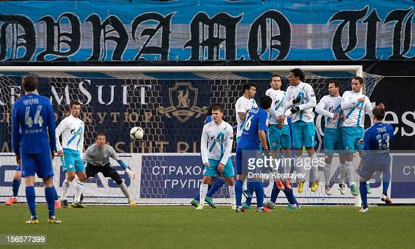 Vladimir Granat of FC Dynamo Moscow scores his goal against Vyacheslav Malafeev of FC Zenit St Petersburg during the Russian Premier League match...