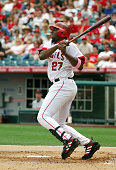 Vladimir Guerrero of the Los Angeles Angels of Anaheim bats during 101 loss to the Detroit Tigers at Angel Stadium in Anaheim Calif on Sunday May 8...