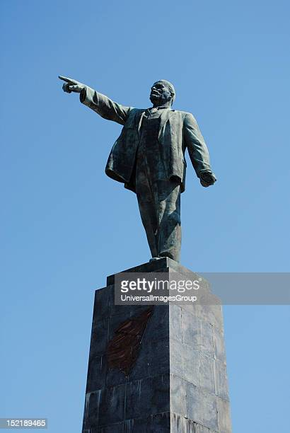Vladimir Ilyich Lenin Russian Marxist revolutionary and communist politician Monument built by Pavel Bondarenko in 1957 for the 40th anniversary of...