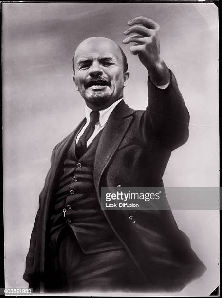 Vladimir Ilyich Ulyanov Lenin making a speech during the 3rd Comintern Congress at the Kremlin Moscow July 1921