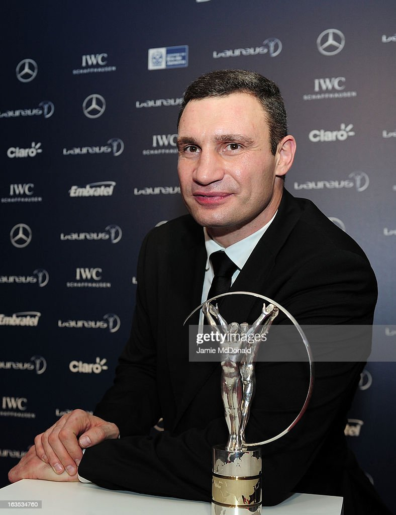 Vladimir Klitschko attends the 2013 Laureus World Sports Awards at the Theatro Municipal Do Rio de Janeiro on March 11, 2013 in Rio de Janeiro, Brazil.