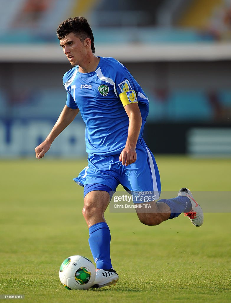 Vladimir Kozak of Uzbekistan in action during the FIFA U20 World Cup Group F match between Ukbekistan and Uruguay at Akdeniz University Stadium on June 29, 2013 in Antalya, Turkey.