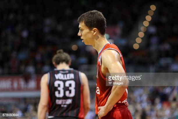 Vladimir Lucic of Munich looks on during the match between FC Bayern Muenchen and Giessen 46ers at Audi Dome on May 1 2017 in Munich Germany