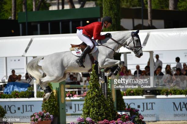 Vladimir of Russia riding Confident of Victory during the Piazza di Siena Bank Intesa Sanpaolo in the Villa Borghese on May 27 2017 in Rome Italy