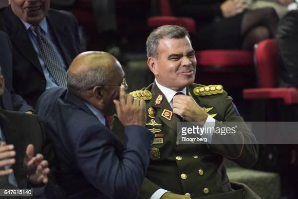 Vladimir Padrino Lopez Venezuela's defense minister center arrives for the annual reports presentation at the Supreme Court in Caracas Venezuela on...