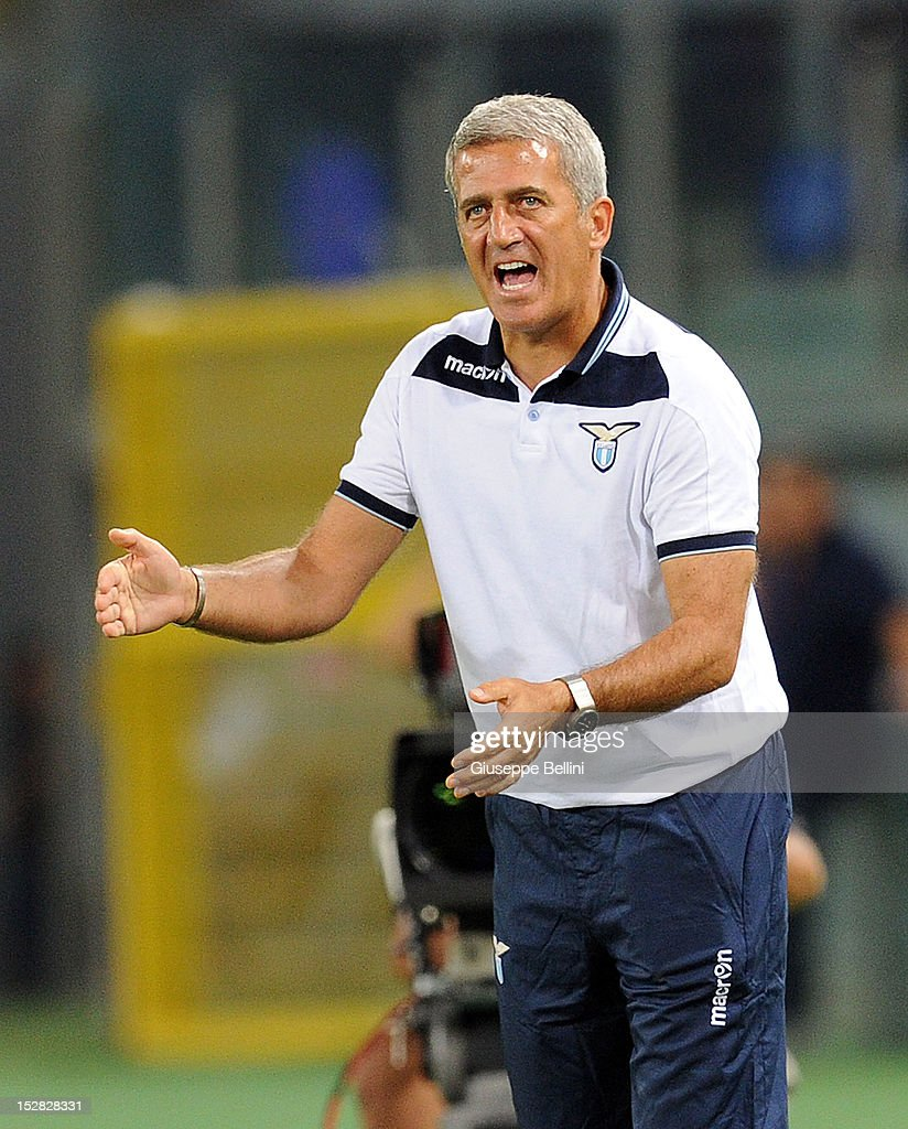Vladimir Petkovic head coach of Lazio during the pre-season friendly match between SS Lazio and Getafe CF at Olimpico Stadium on August 11, 2012 in Rome, Italy.