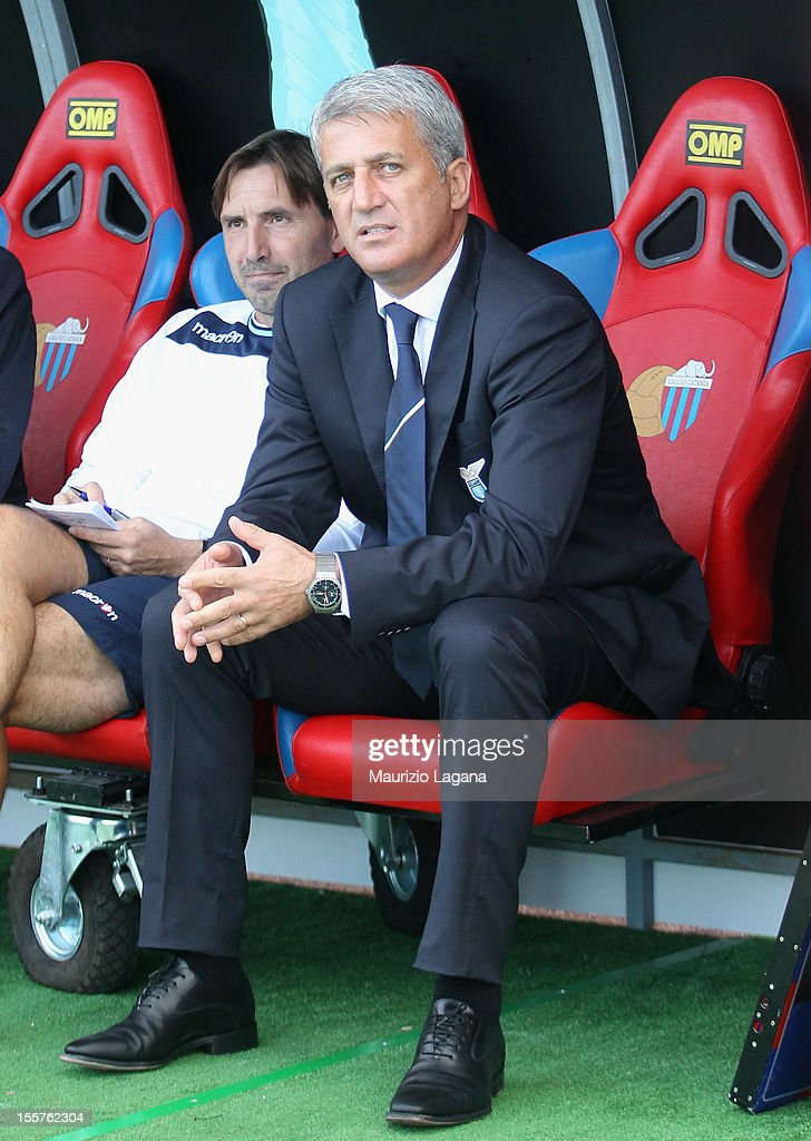 Vladimir Petkovic head coach of Lazio during the Serie A match between Calcio Catania and S.S. Lazio at Stadio Angelo Massimino on November 4, 2012 in Catania, Italy.