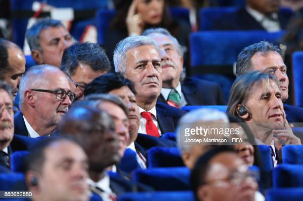 Vladimir Petkovic Manager of Switzerland looks on prior to the Final Draw for the 2018 FIFA World Cup Russia at the State Kremlin Palace on December...