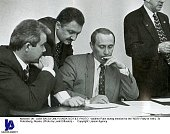 Vladimir Putin during election for the 'NDR' Party in 1994 St Petersburg Russia
