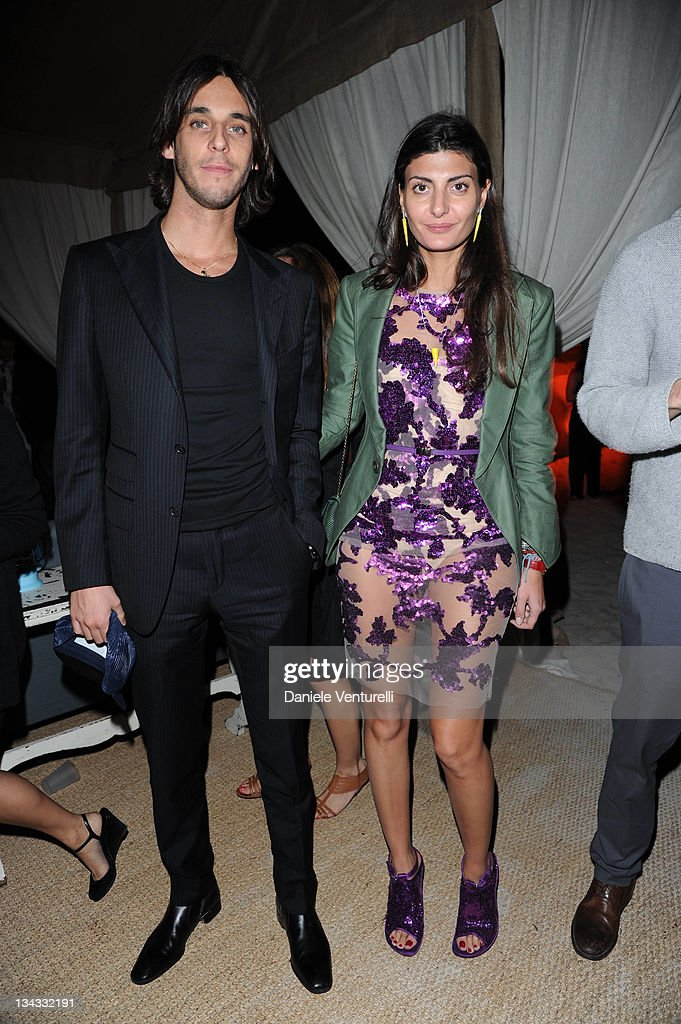 Vladimir Restoin Roitfeld and Giovanna Battaglia attend the 'Carter Cleveland, Wendi Murdoch And Dasha Zhukova Host Party' at Soho Beach House on November 30, 2011 in Miami Beach, Florida.