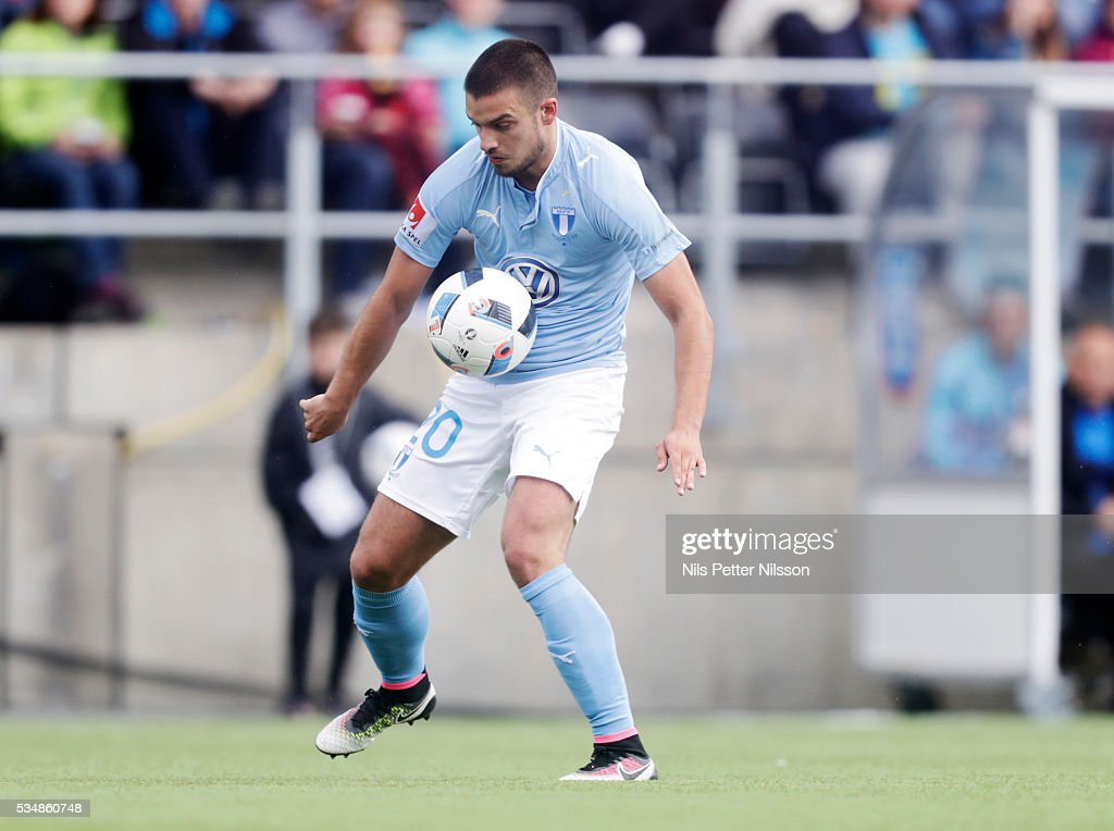 Vladimir Rodic of Malmo FF during the Allsvenskan match between Ostersunds FK and Malmo FF at Jamtkraft Arena on May 28, 2016 in Ostersund, Sweden.