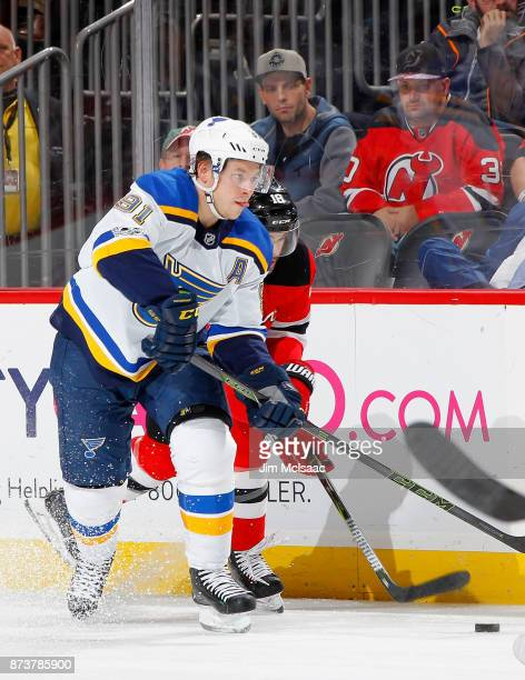 Vladimir Tarasenko of the St Louis Blues in action against the New Jersey Devils on November 7 2017 at Prudential Center in Newark New Jersey The...
