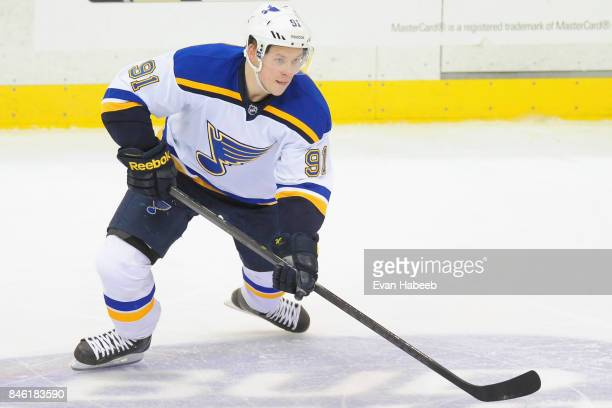 Vladimir Tarasenko of the St Louis Blues plays in the game against the Pittsburgh Penguins at the Consol Energy Center on March 24 2015 in Pittsburgh...