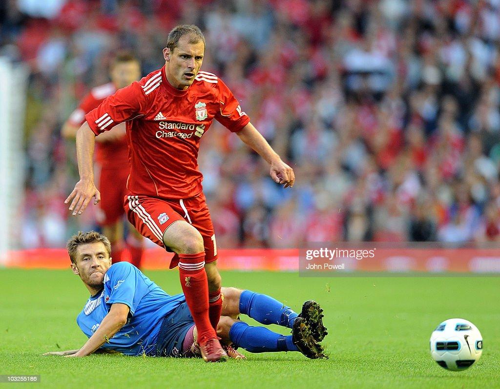 Liverpool v FK Rabotnicki - Europa League Third Qualifying Round : News Photo