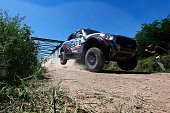 Vladimir Vasilyev and Konstantin Zhiltsov of Russia driving for GEnergy Mini ALL4 Racing compete during day 1 of the Dakar Rallly on January 4 2015...