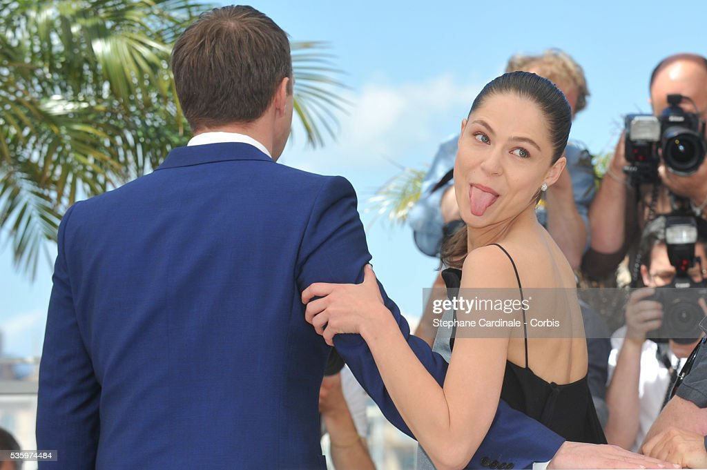 Vladimir Vdovichenkov, Yelena Lyadova attend the 'Leviathan' photocall during the 67th Cannes Film Festival