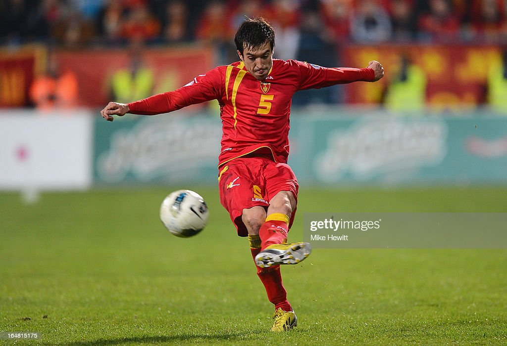 Vladimir Volkov of Montenegro in action during the FIFA 2014 World Cup Group H Qualifier between Montenegro and England at City Stadium on March 26, 2013 in Podgorica, Montenegro.