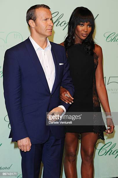 Vladislav Doronin and model Naomi Campbell attend the Chopard 150th Anniversary Party at the VIP Room Palm Beach during the 63rd Annual International...