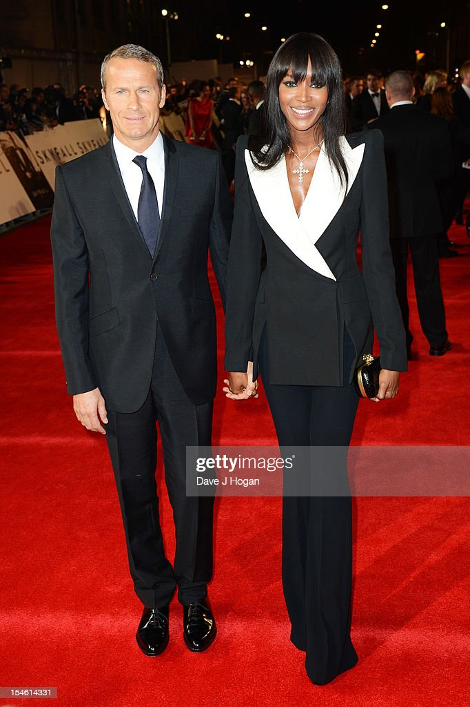 Vladislav Doronin and Naomi Campbell attend the Royal world premiere of 'Skyfall' at The Royal Albert Hall on October 23, 2012 in London, England.