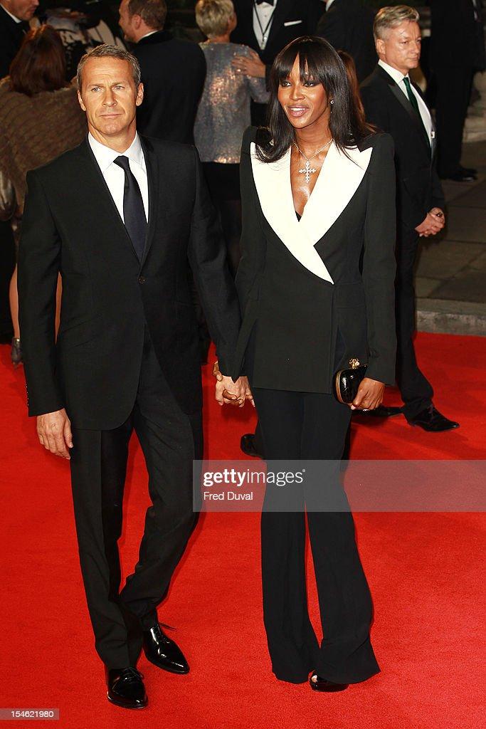 Vladislav Doronin and Naomi Campbell attend the Royal World Premiere of 'Skyfall' at Royal Albert Hall on October 23 2012 in London England