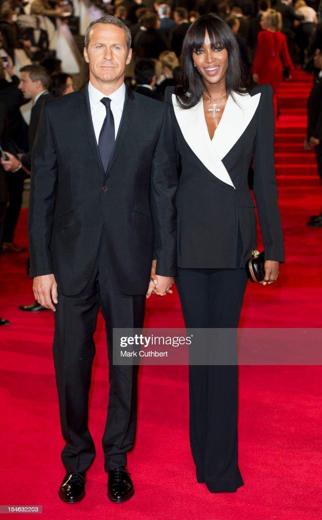 Vladislav Doronin and Naomi Campbell attend the Royal World Premiere of 'Skyfall' at Royal Albert Hall on October 23, 2012 in London, England.