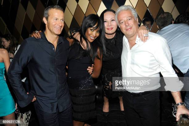 Vladislav Doronin Naomi Campbell Eva Chow and Aby Rosen attend Party at WALL Hosted by VITO SCHNABEL STAVROS NIARCHOS ALEX DELLAL at WALL at the W...