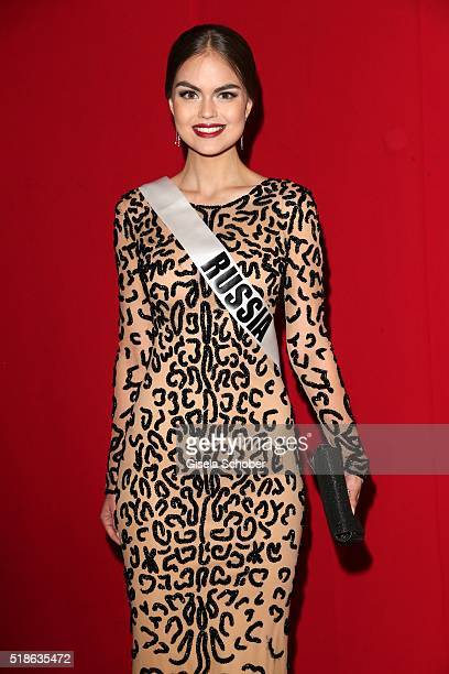 Vladislava Evtushenko Miss Russia during the 7th 'Filmball Vienna' at City Hall on April 1 2016 in Vienna Austria