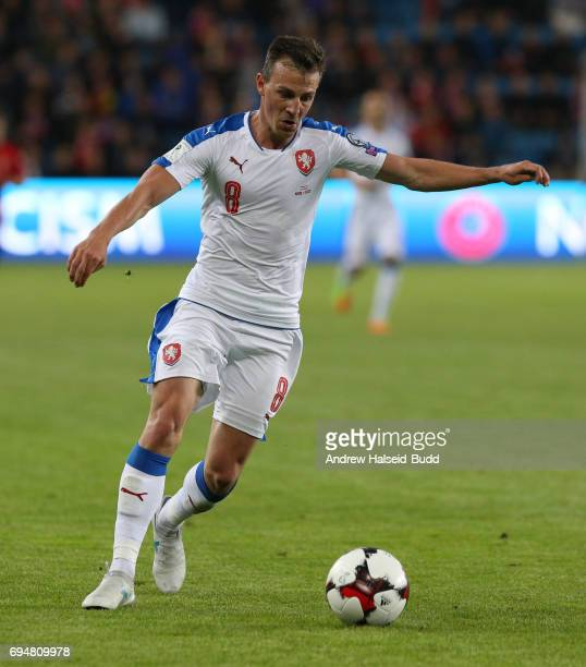 Vladmir Darida of Czech Republic during the FIFA 2018 World Cup Qualifier between Norway and Czech Republic at Ullevaal Stadion on June 10 2017 in...