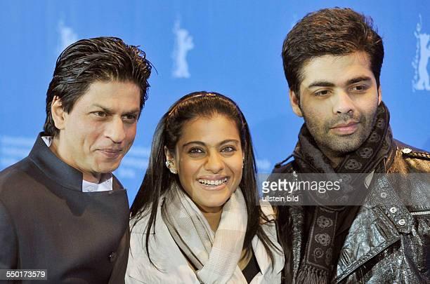 Schauspieler Shah Rukh Khan Schauspielerin Kajol Devgan und Regisseur Karan Johar anlässlich des Photocalls zum Film My Name Is Khan während der 60...