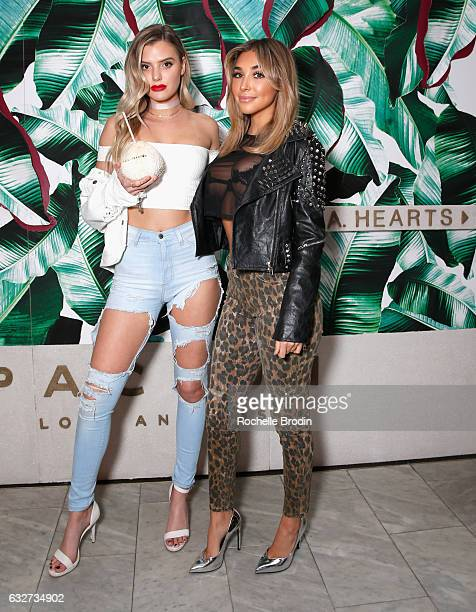 Vlogger Alissa Violet and model/actress Chantel Jeffries attend LA Hearts PacSun celebrate 2017 Spring Swimwear Collection at Delilah on January 25...