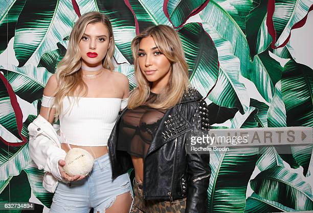 Vlogger Alissa Violet and model/actress Chantel Jeffries attends LA Hearts PacSun celebrate 2017 Spring Swimwear Collection at Delilah on January 25...