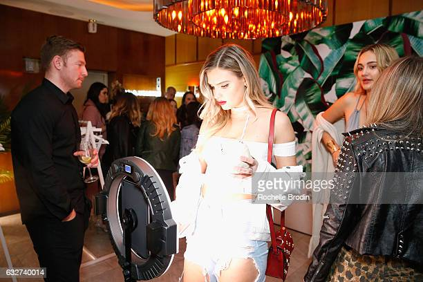 Vlogger Alissa Violet attends LA Hearts PacSun celebrate 2017 Spring Swimwear Collection at Delilah on January 25 2017 in Los Angeles California