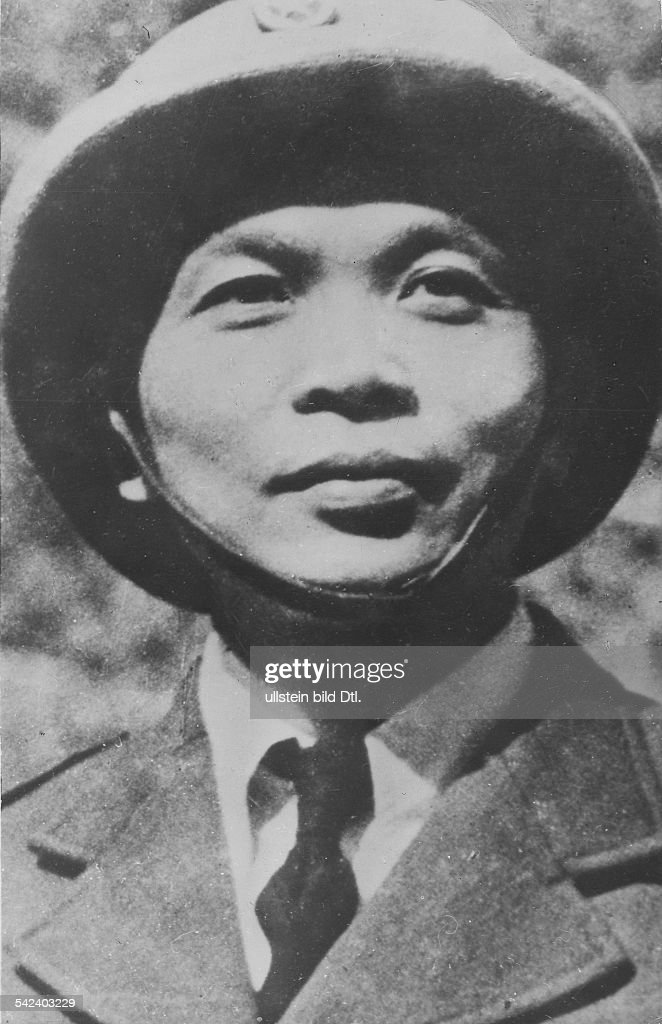 Vo Nguyen Giap (1912- Vietminh general in the indochinese war , Vietnam Portrait 1954
