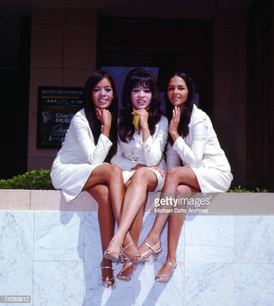 Vocal trio 'Ronettes' pose for a portrait in 1964 in Los Angeles California Estelle Bennett Vann Ronnie Spector Nedra Talley Ross