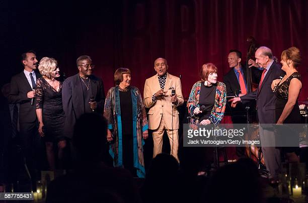 Vocalese Jazz group the Royal Bopsters Project performs onstage with special guests at Birdland Jazz club New York New York September 16 2015 The...